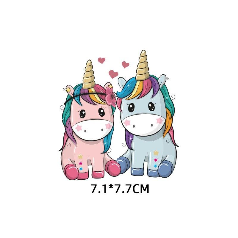 Мультяшный пони, единорог, динозавр, железная нашивка, теплопередача, одежда в полоску, футболка для мальчиков и девочек, сделай сам, волшебная наклейка на заказ - Цвет: ZT1109