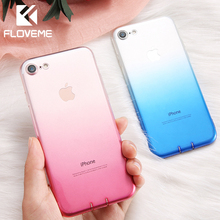 FLOVEME For iPhone 6 6S iPhone 7 8 Plus Ultra Thin Cases for iPhone X XS Max XR Clear TPU Phone Cases For iPhone 5S 5 SE Fundas cheap Transparent Fitted Case Gradient Ultra Thin Soft Silicone Phone Case For iPhone Fundas Dirt-resistant Apple iPhones IPHONE XS MAX
