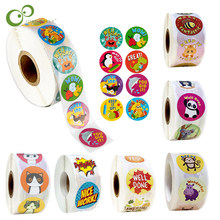 500pcs/roll Reward Stickers Encouragement Stickers for Kids Motivational Stickers with Cute Animals for Students Teachers GYH