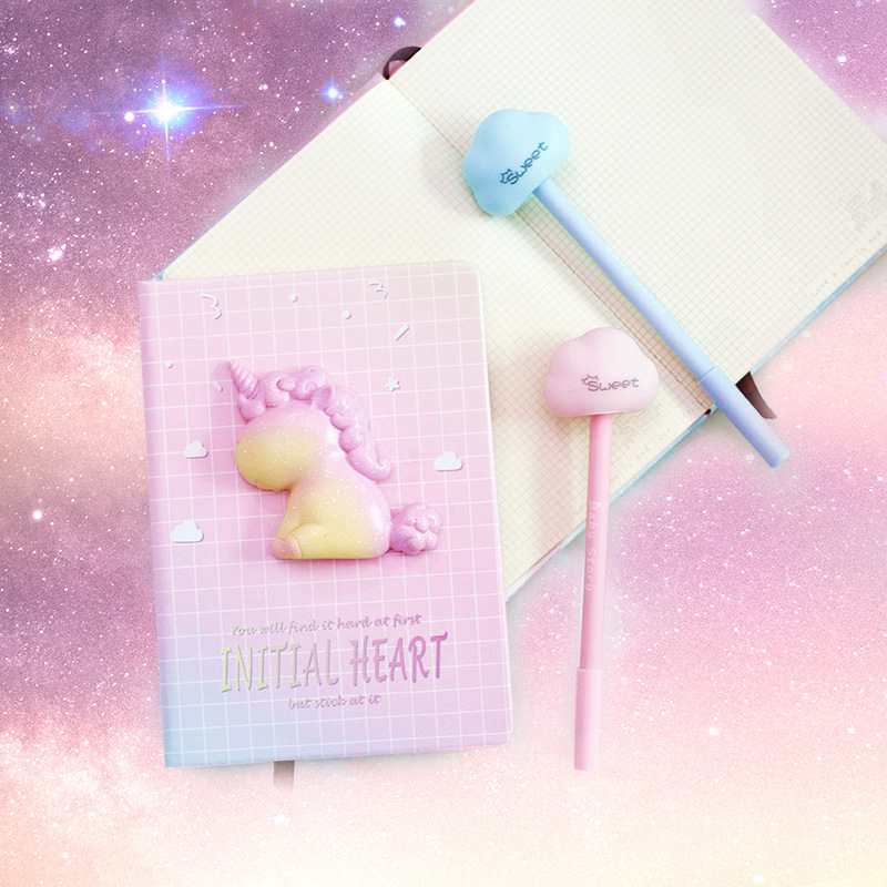 A6 Pink Girl's <font><b>Kawaii</b></font> <font><b>Notebook</b></font> Unicorn <font><b>Notebook</b></font> Gift Box Record Life Stationery Gifts <font><b>Diary</b></font> Student School Suplies Gift image