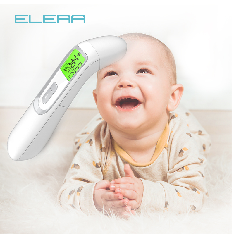 ELERA Newest Infrared Baby Forehead And Ear Thermometer Fast Accurate Measurement Digital LCD Non-contact Children Termometro