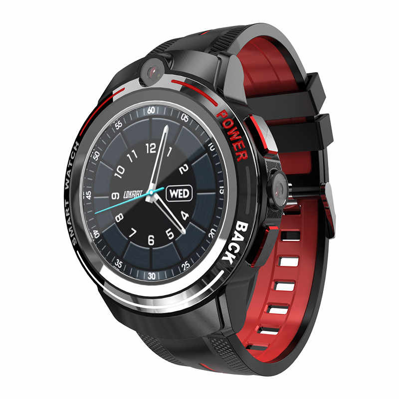 Montre intelligente 4g android Support appel téléphone montre carte Sim Wi-Fi recevoir/envoyer SMS double caméras smartwatch pour hommes et femmes