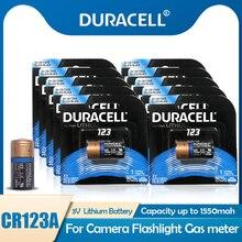 10 шт. оригинальный DURACELL CR123A CR123 123A 123 CR17345 3V литиевая Батарея для Камера дверной звонок дыма игрушечный будильник сухая Первичная батарея Бат...