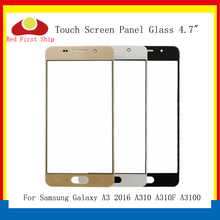 10Pcs/lot Touch Screen For Samsung Galaxy A3 2016 A310 A310F A3100 Touch Panel Front Outer Glass Lens A310 Touchscreen LCD Glass стоимость