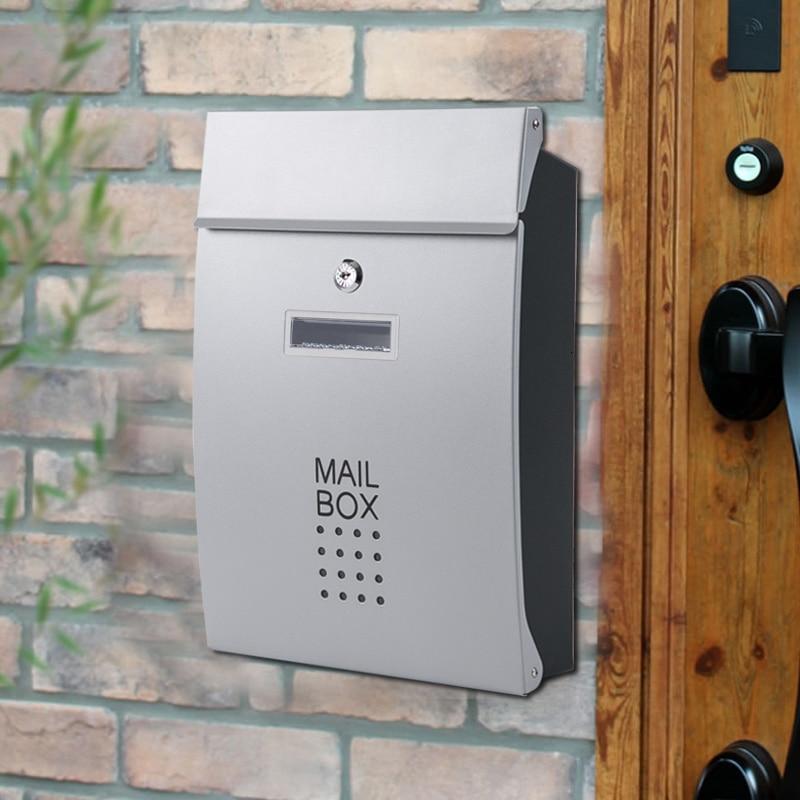 Correo instalado en la pared de Alwasyme, buzones de correo bloqueados en vertical, puerta frontal puerta residencial servicio Postal jardín apartamento
