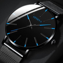 Watch Men Mesh Stainless Steel Business the mens' watches Qu