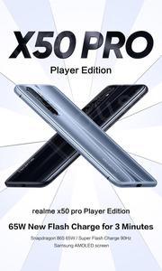 Оригинальный 5G realme X50 Pro Player Edition 48MP Quad RearCamera 6,44 SuperAMOLED полноэкранный NFC UFS3.1 65W SuperVOOC смартфон