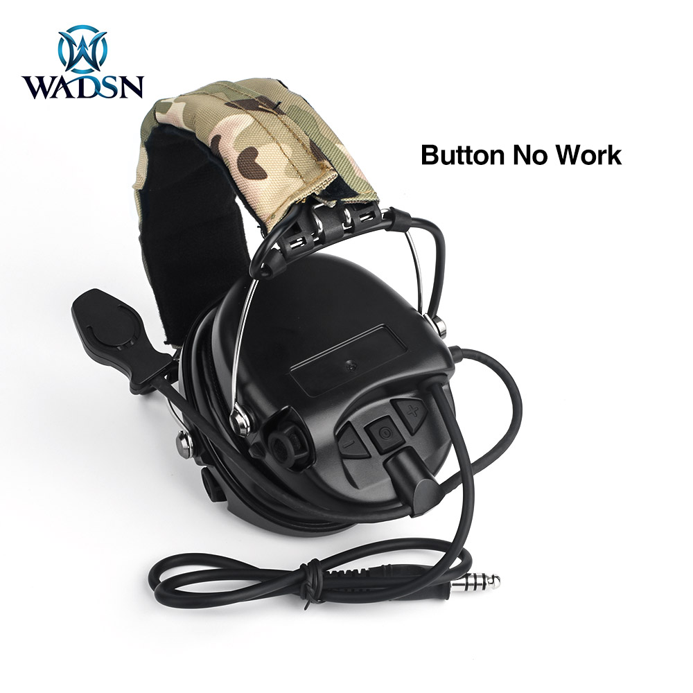 WADSN тактические наушники Peltor версия связи стрельба гарнитура с камуфляжная повязка на голову без снижения уровня шума-4