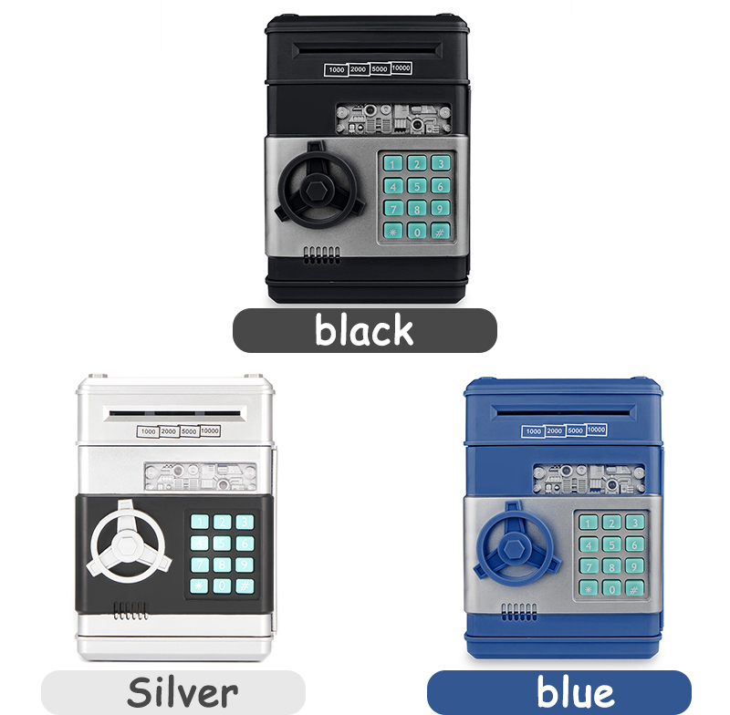 Image 5 - Electronic Piggy Bank ATM Password Money Box Cash Coins Saving Box ATM Bank Safe Box Automatic Deposit Banknote Christmas Giftbank safe boxbank safeselectronic piggy -