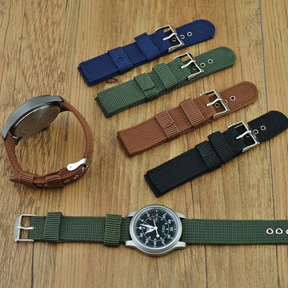 Watch Strap Army Nylon Waterproof Wrist Watch Band 18mm 20mm 22mm 24mm Replacement Strap New Christmas Gift For Women Men