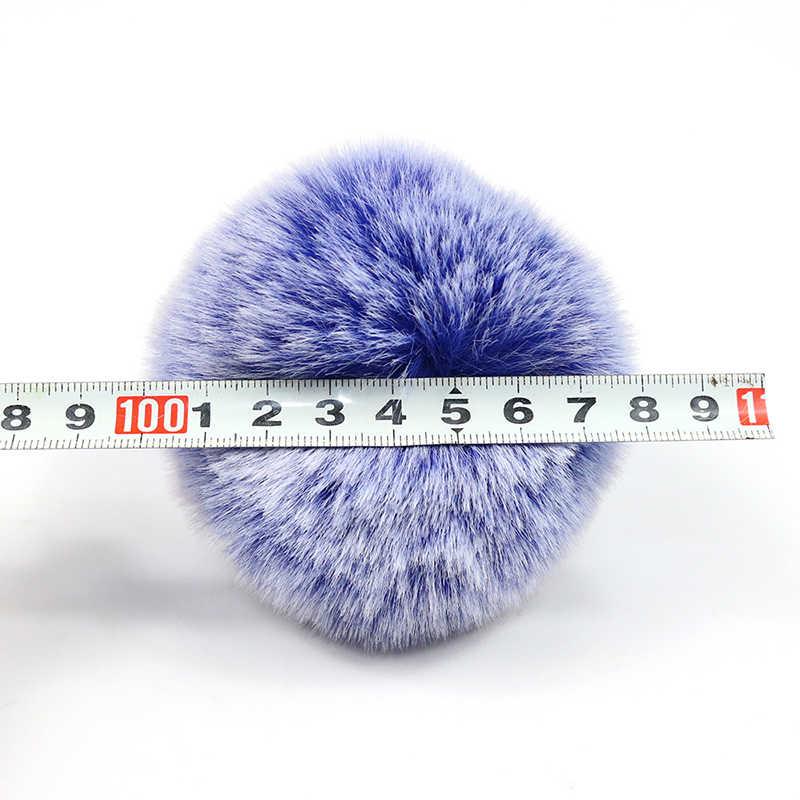DIY بها بنفسك 100% الطبيعية 7/8 سنتيمتر الثعلب الفراء منفوش بوم ل القبعات ريال فوكس الفراء الكرة الكبيرة بوم بوم ل قبعات القبعات Skullies