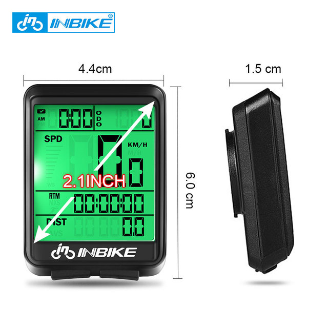 INBIKE Waterproof Bicycle Computer Wireless And Wired MTB Bike Cycling Odometer Stopwatch Speedometer Watch LED Digital