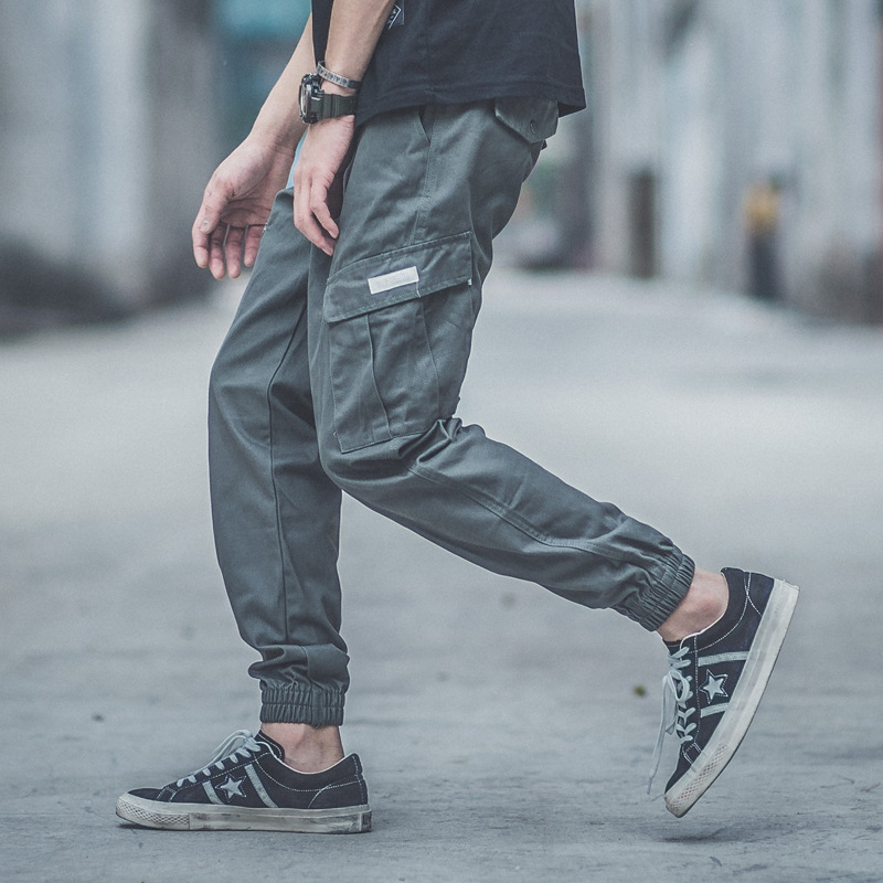 Origional Design Men Bags Bib Overall Ankle Banded Pants Popular Brand Shawn Loose Casual Pants Hip Hop Skinny Pants