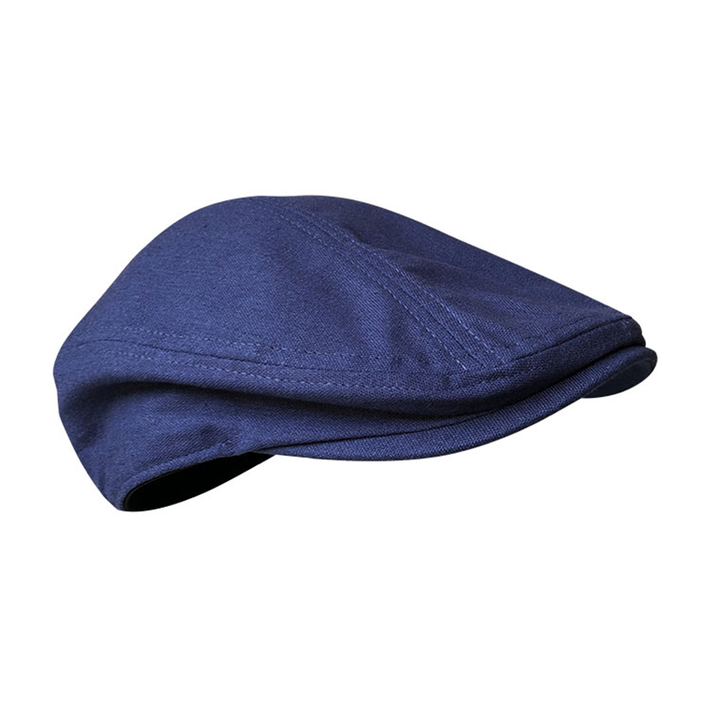 Primavera e verão casual homem liso verão linho boina chapéu mulher azul escuro cinza escuro respirável boné duckbill condução chapéus blm240