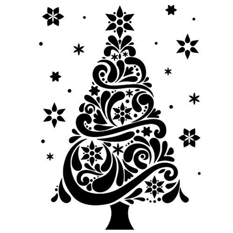 2 Pcs Christmas Tree Lantern Cutting Dies 3D Stencils DIY Scrapbooking Cut Die