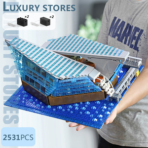 Image 3 - 601099 MOC Architecture Building Block The Singapore Boutique Clothing Jewelry Store WIth Led Part Assembly Brick Kids Toys Gift