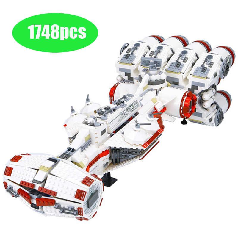 05046 Legoinglys серия звездных истребителей тантива IV Rebel Blockade Runner строительные блоки 1748 шт. кирпичи игрушки подарок Звездные войны 10019