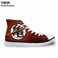 THIKIN Cool Anime Dragon Ball Z Pattern Teen Boys High-top Vulcanized Shoes Men