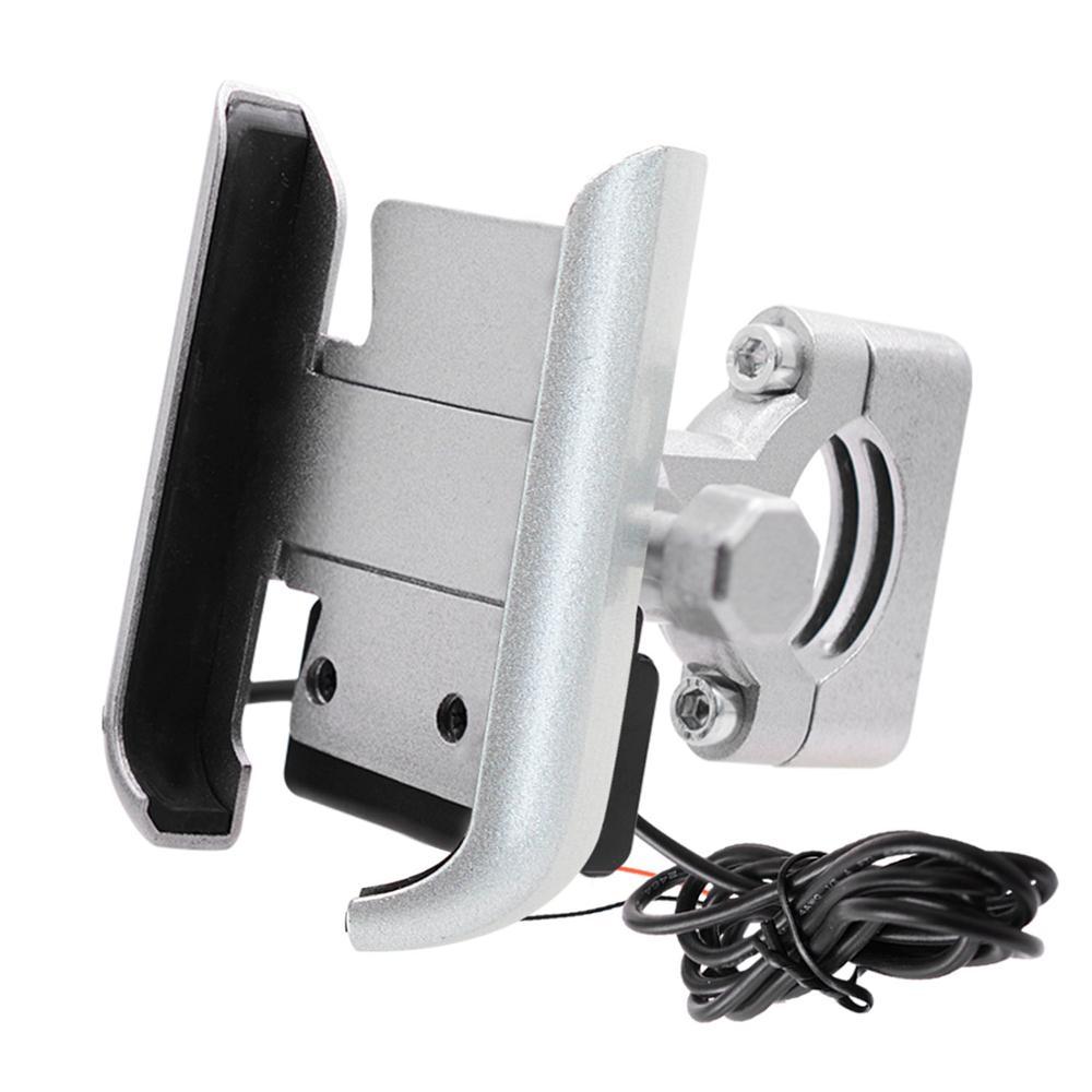 360 градусов USB зарядка мотоцикл руль/Зеркало держатель телефона Алюминиевый сплав