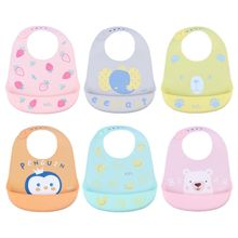 Baby Silicone Bibs Infant Feeding Food Catcher Pocket Waterproof Saliva Towel P31B