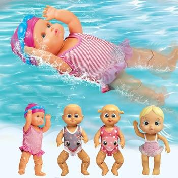 Детские куклы для плавания, водонепроницаемые Обучающие Смарт электрические куклы, подвижные детские куклы, детские безопасные игрушки-сю...