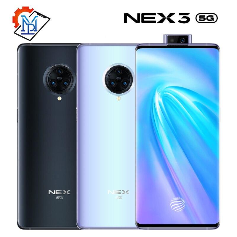 Vivo Nex 3 5G мобильный телефон 6,89 дюймов экран 8 ГБ + 256 ГБ Snapdragon 855 Plus Восьмиядерный Android 9,0 камера 64.0MP смартфон