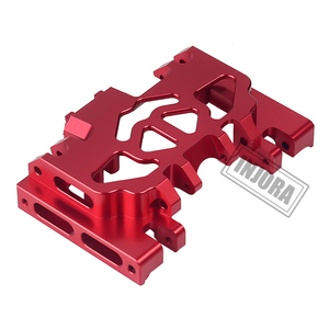 Image 3 - INJORA 1PCS Aluminum Metal Gearbox Mount Holder for 1/10 RC Crawler TRAXXAS TRX4 TRX 4