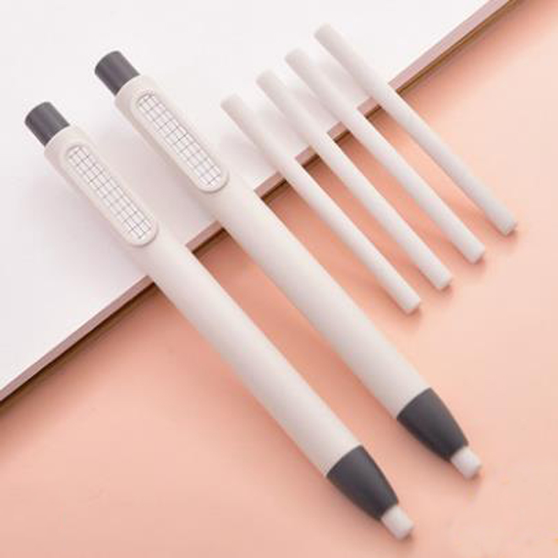 3 Pcs/set Cute Pen Shape Retractable Press Rubber Pencil Erasers Drawing Sketch Eraser Refills School Supplies Stationery Gifts