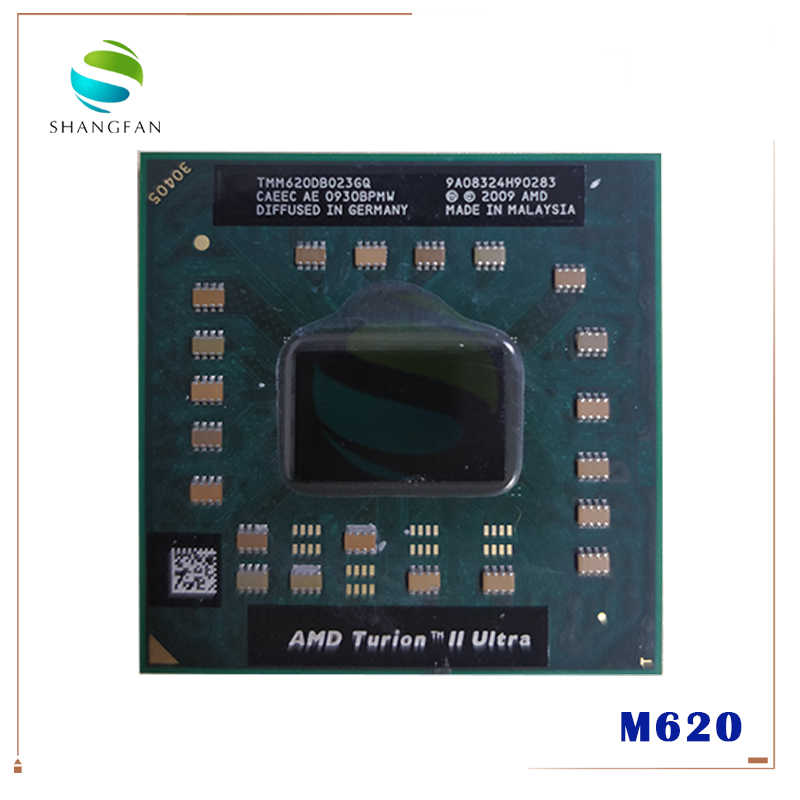 AMD Turion II Ultra Mobile M620 Processore 2.50GHz 2MB L2 Cache Socket S1 (S1g3) PGA638 M620 TMM620DBO23GQ TMM620 CPU Del Computer Portatile