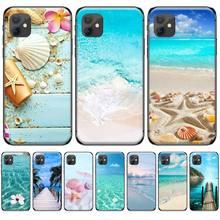 цена на Clear Sea Sky Sandy beach Bling Cute Phone Case For iphone 5 5S SE 5C 6 6S 7 8 plus X XS XR 11 PRO MAX