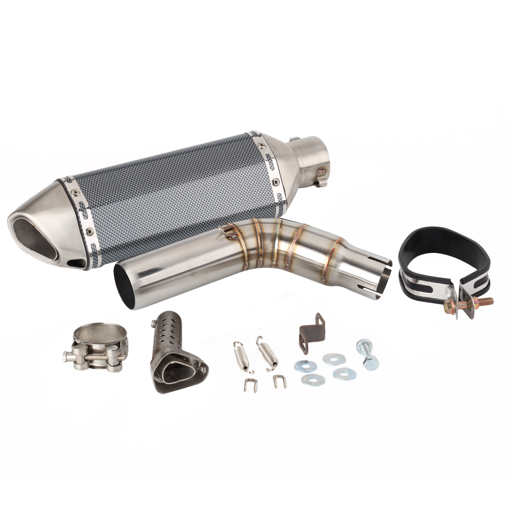 For <font><b>Suzuki</b></font> <font><b>SV</b></font> <font><b>650</b></font> 2016 2017 2018 2019 SV650X SV650 <font><b>Exhaust</b></font> Escape Slip-on Motorcycle <font><b>Exhaust</b></font> Pipe And Link Pipe System image