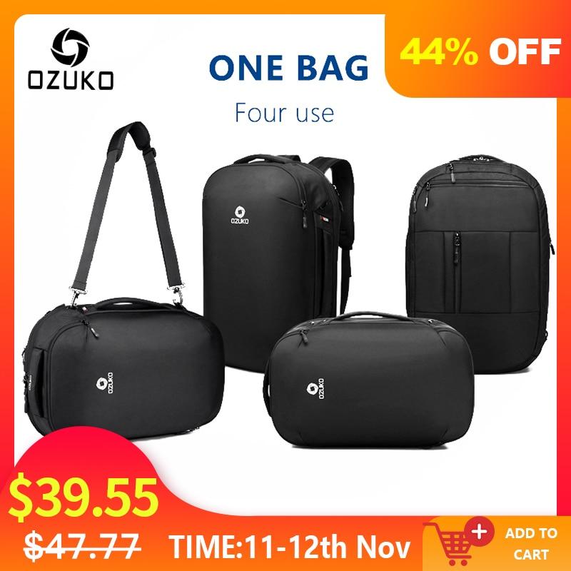 OZUKO Men's Multifunction 15.6 Inch Laptop Backpacks 2019 New Fashion Schoolbag For Teenager Waterproof Male Mochila Travel Bags