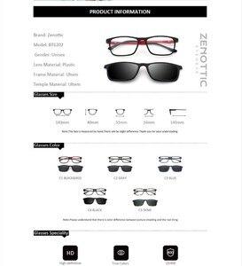 Image 4 - ZENOTTIC 2 in 1Polarized Sunglasses Magnetic Clip On Optical Glasses For Men Bendable Square Spectacl Clip On Shade Eyeglasses