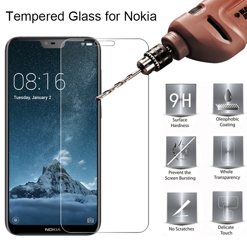 Tempered Glass For <font><b>Nokia</b></font> 7 7.1 3.1 Plus <font><b>X71</b></font> Screen Protector for <font><b>Nokia</b></font> 4.2 3.2 2.2 Phone Protective Film for <font><b>Nokia</b></font> 8 7 6 5 3 image