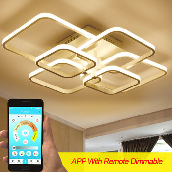 Surface Mounted Modern Led Chandelier For Hotel Living Room Bedroom Home AC110v 220V Lustre Led Ceiling Chandelier Lighting Lamp oval design modern crystal chandelier living lighting ac110v 220v gold lustre dinning room light fixtures