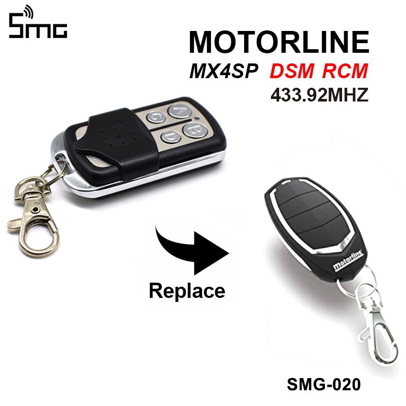 MOTORLINE Remote Gate Control Key Duplicator MX4SP DSM RCM Garage Door Opener 433.92MHz Controller Key Chain For Barrier 433MHz
