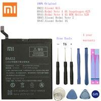 BM45 BM47 BN43 BM22 BN41 Batterie Für Xiaomi Redmi 3 3S 3X 4 Hinweis 2 Hinweis 4 Hinweis 4X original Batterie Für Xiaomi MI 5 Batterien