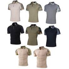 Тактическая Военная короткая футболка штурмовая камуфляжная