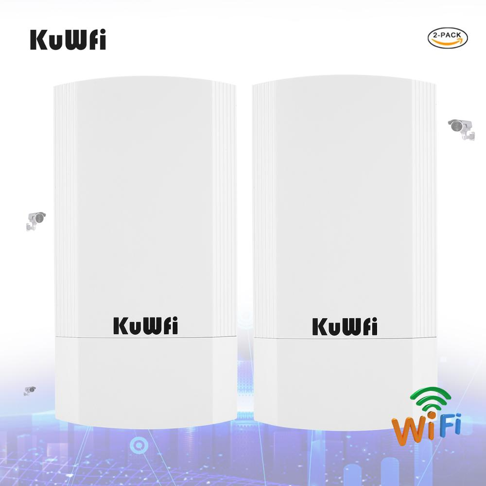 KuWFi Wireless Bridge CPE Router 5.8G 450M 1KM Wireless Repeater&Bridge Indoor&Outdoor Point To Point 1KM 24V POE