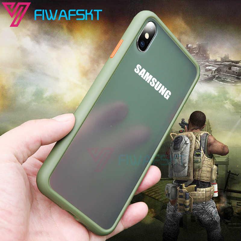 Antiurto Armatura Per Il Caso di Samsung Galaxy S20 Ultra S8 S9 S10 Più Nota 10 Lite A10 A20 A50 A70 A40 a30 A51 A71 Morbido Duro Della Copertura