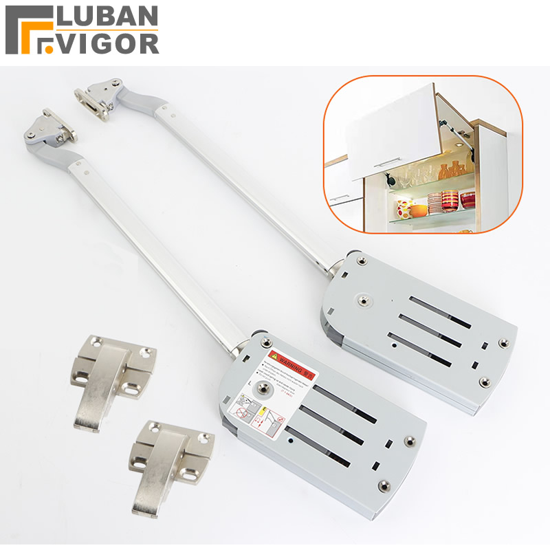 Folding up door support Hydraulic buffer support rod for cabinet door Pneumatic rod for kitchen wall cabinet Stop at will