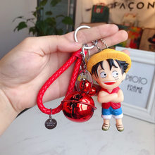 New One Piece Lufei Qiaoba Key Chains Creative Simple Vinyl Key Chain Car Key Ring Bag Pendant A Beautiful Gift for Anime Lovers(China)