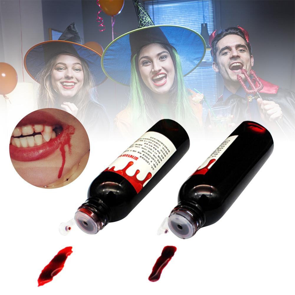 Ultra-realistic Fake Blood DIY Halloween Horror Fake Joke Bottle Drop Simulation Props Holiday Party Supplies Decoration