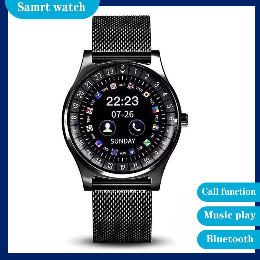 Smart watch phone Bluetooth photo language setting sleep monitoring fine steel strap