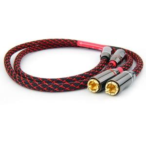 Image 3 - Hifi Verstärker RCA Kabel Audio TV AMP DAC Draht 6N OFC Linie 4 RCA Stecker Professionelle Für MP3 DVD Player