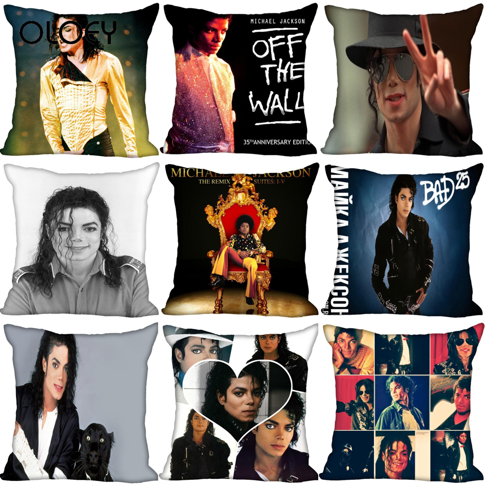 Michael Jackson Cushion Cover For Home Decorative Cushion Cover Invisible Zippered Throw Cushion Cover 45X45cm Hotel Decoration.