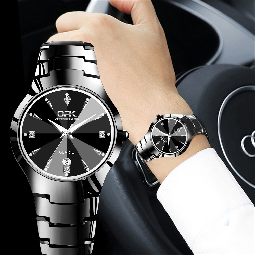 OPK Watch Men TOP Luxury Dress Wristwatches Blakc Silver Watch Waterproof Luminous Business Casual Auto Date