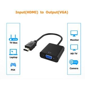 Image 2 - Rankman HDMI ל vga מתאם ממיר עם אודיו כוח קו HDMI2VGA כבל 1080P למחשב נייד DVD טלוויזיה מקרן צג טלוויזיה תיבה