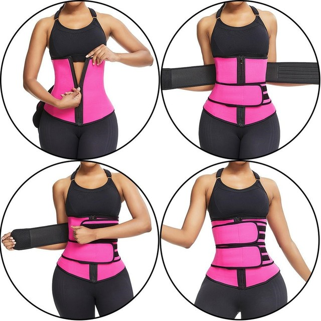S-XXXL Plus Size Waist Trainer Belt Women High Waist Sweat Shaper Thigh Trimmers Adjustable Sauna Belt 2
