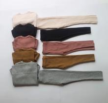 HITOMAGIC เด็กชายหญิงเสื้อผ้าเด็ก Ribbed ชุดติดตั้งแขนยาวเด็กฤดูใบไม้ร่วงฤดูหนาวผ้าชุดกางเกง